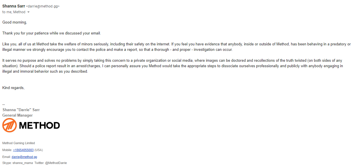 method email scandal