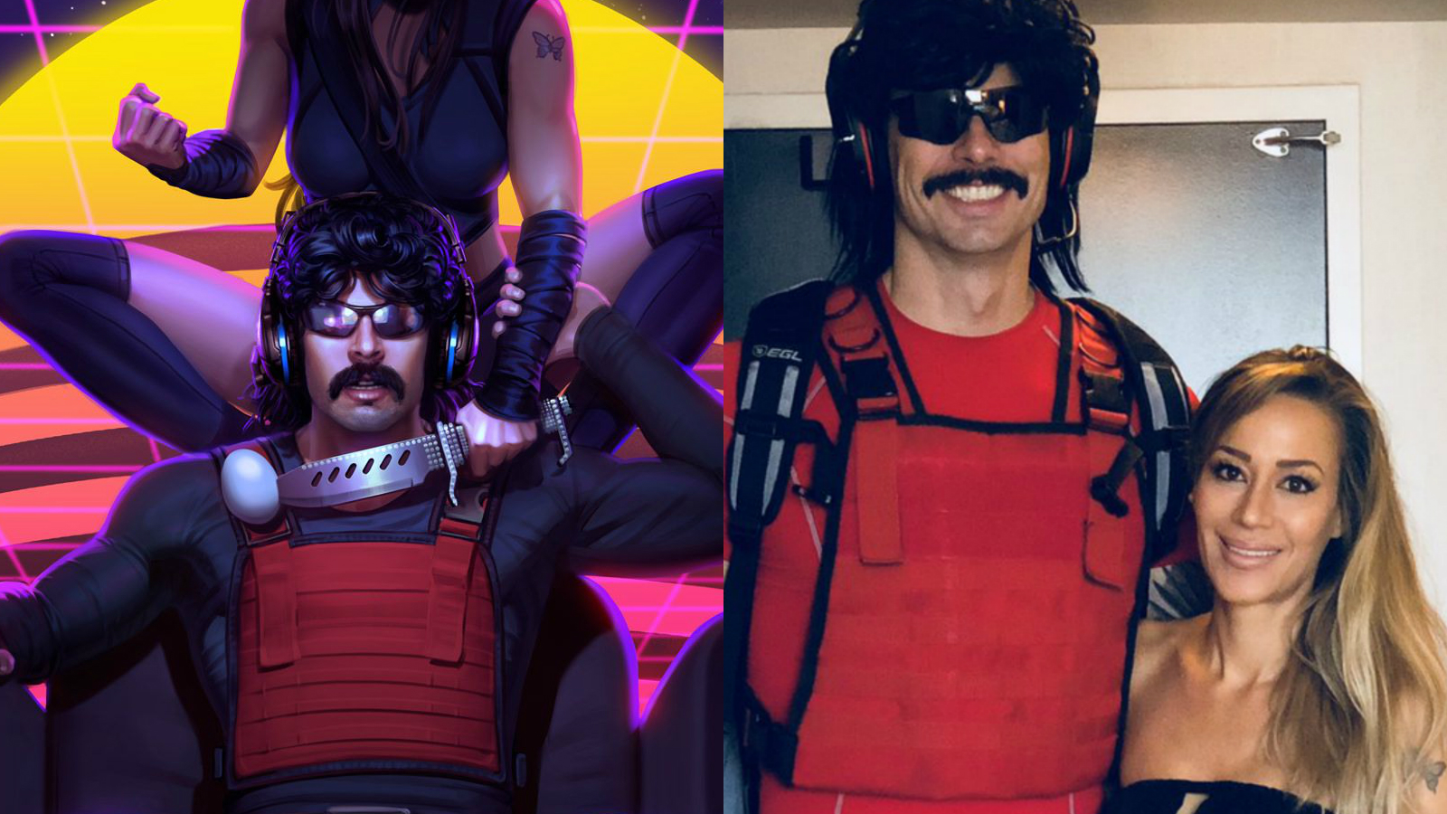 Dr Disrespect and his wife