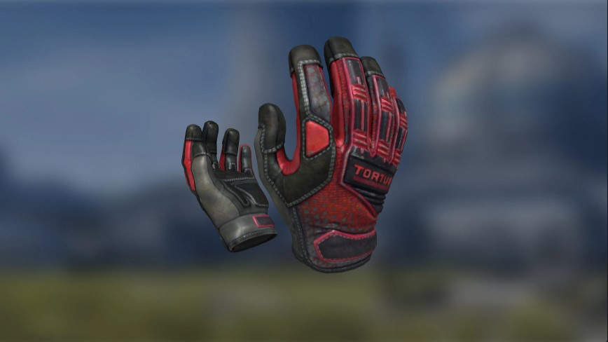 Electronic's Crimson Kimono Gloves.