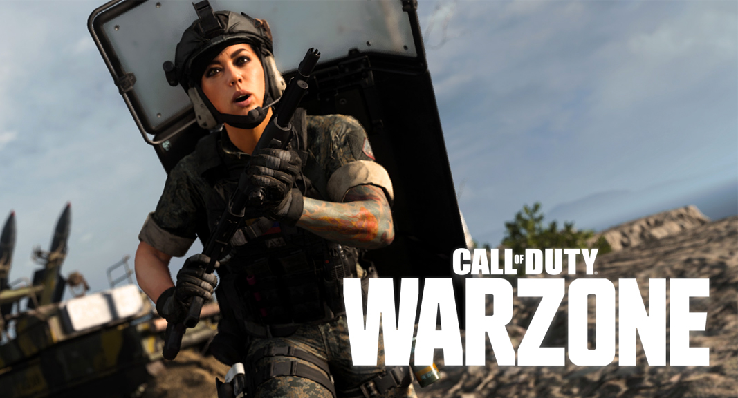 Riot Shield Character with Warzone Logo
