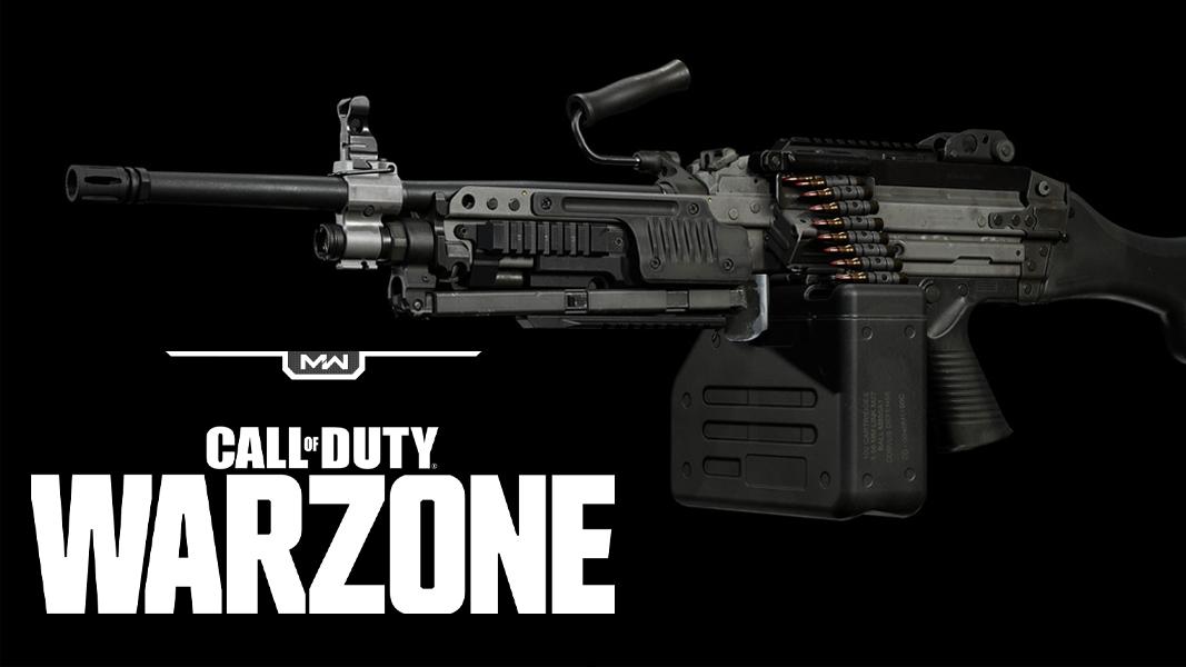 Bruen Mk9 on black background with Warzone logo