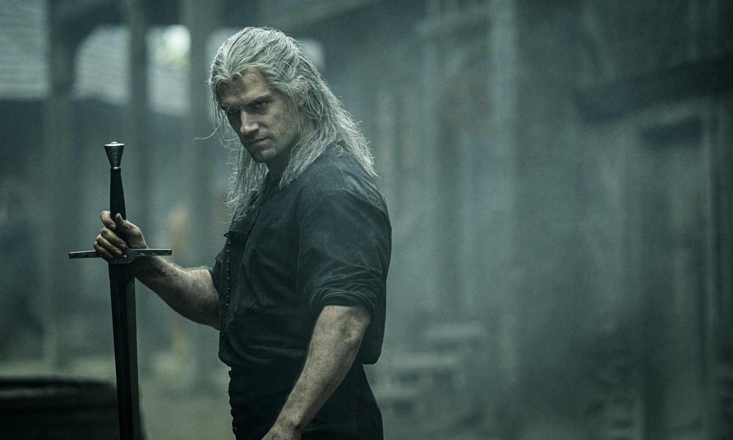Henry Cavill as The Witcher.