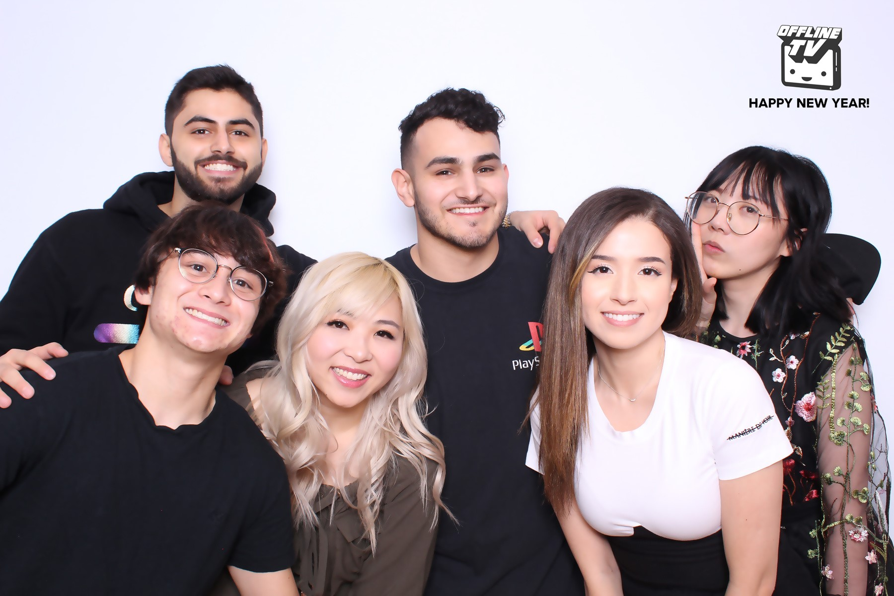 Fedmyster (third from right) has been removed form the OfflineTV house following multiple sexual abuse allegations from other members of the group.