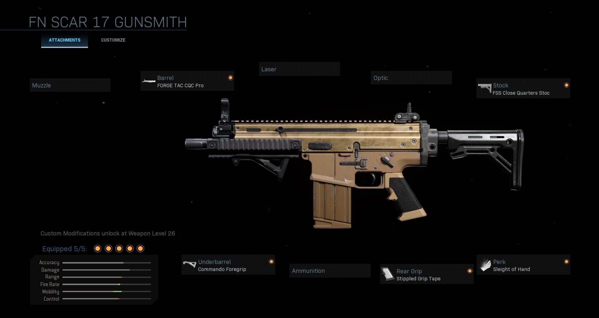 FN Scar 17 multiplayer loadout