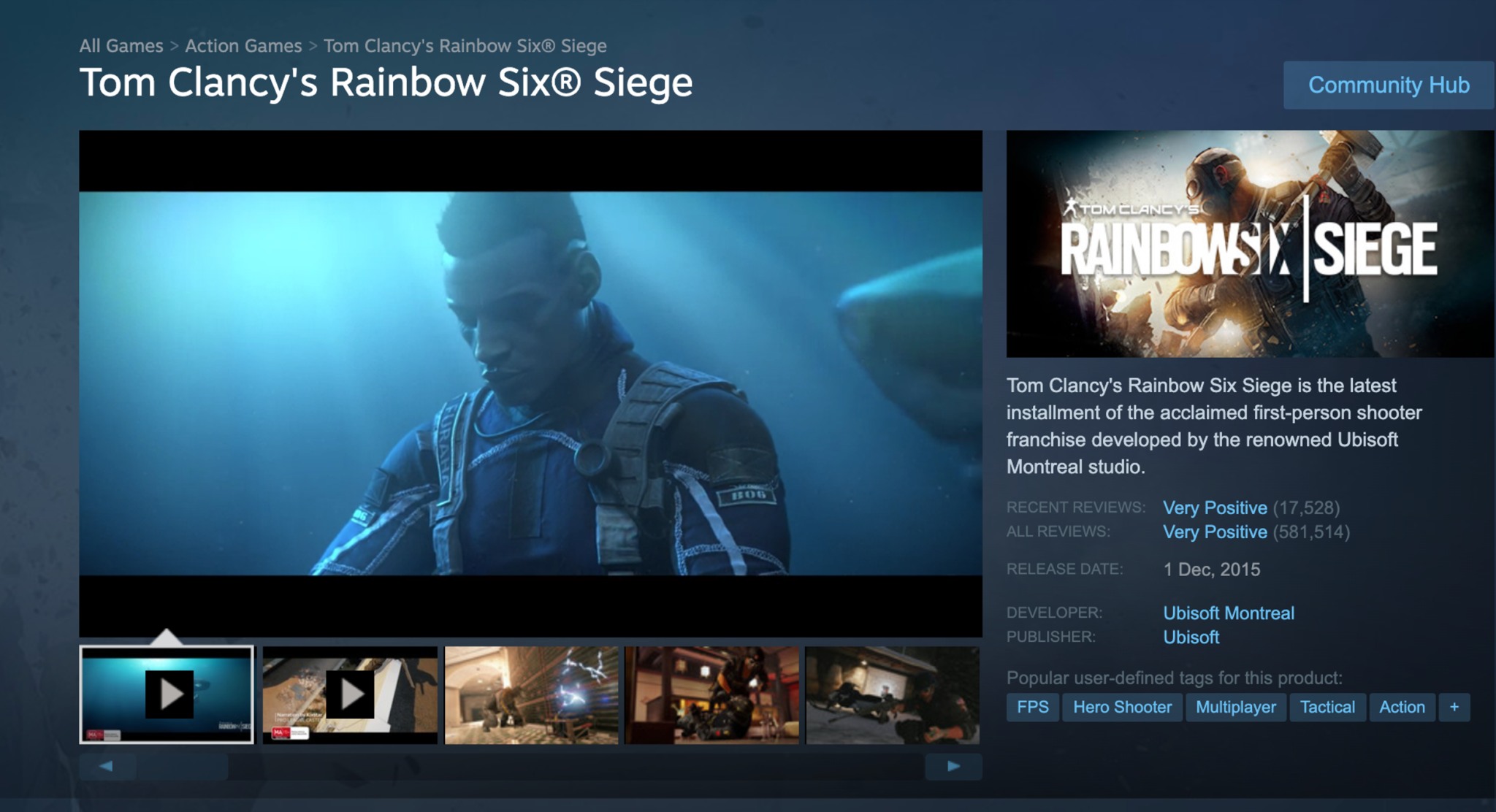 Rainbow Six Siege on Steam screenshot