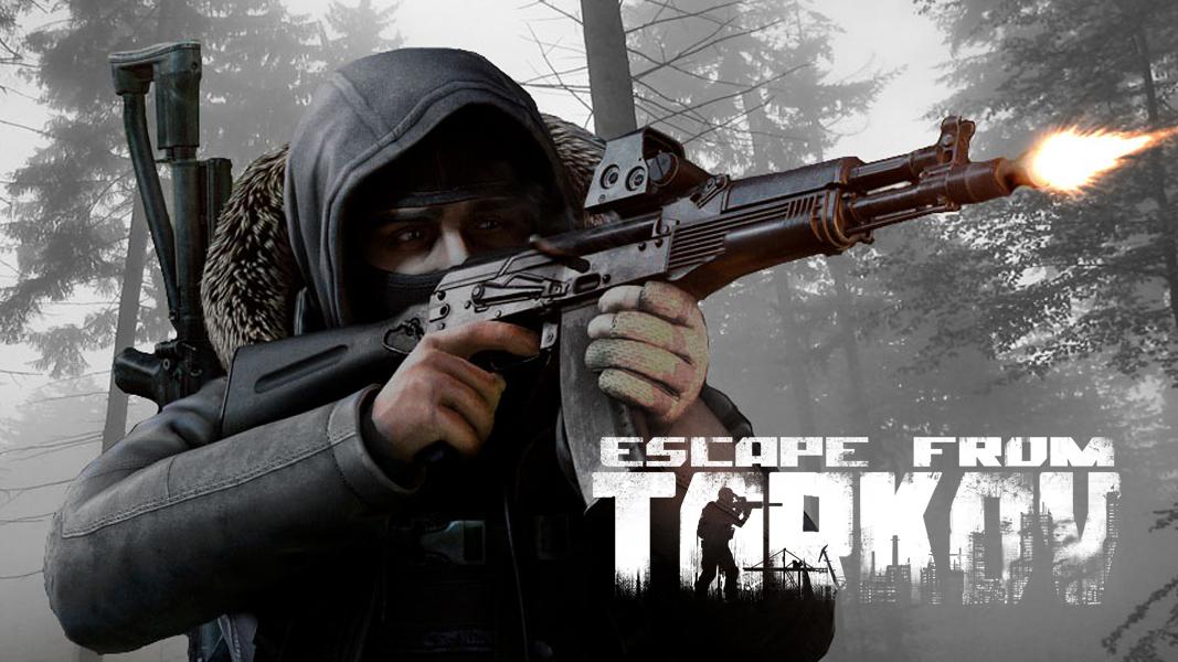 EFT character shooting gun