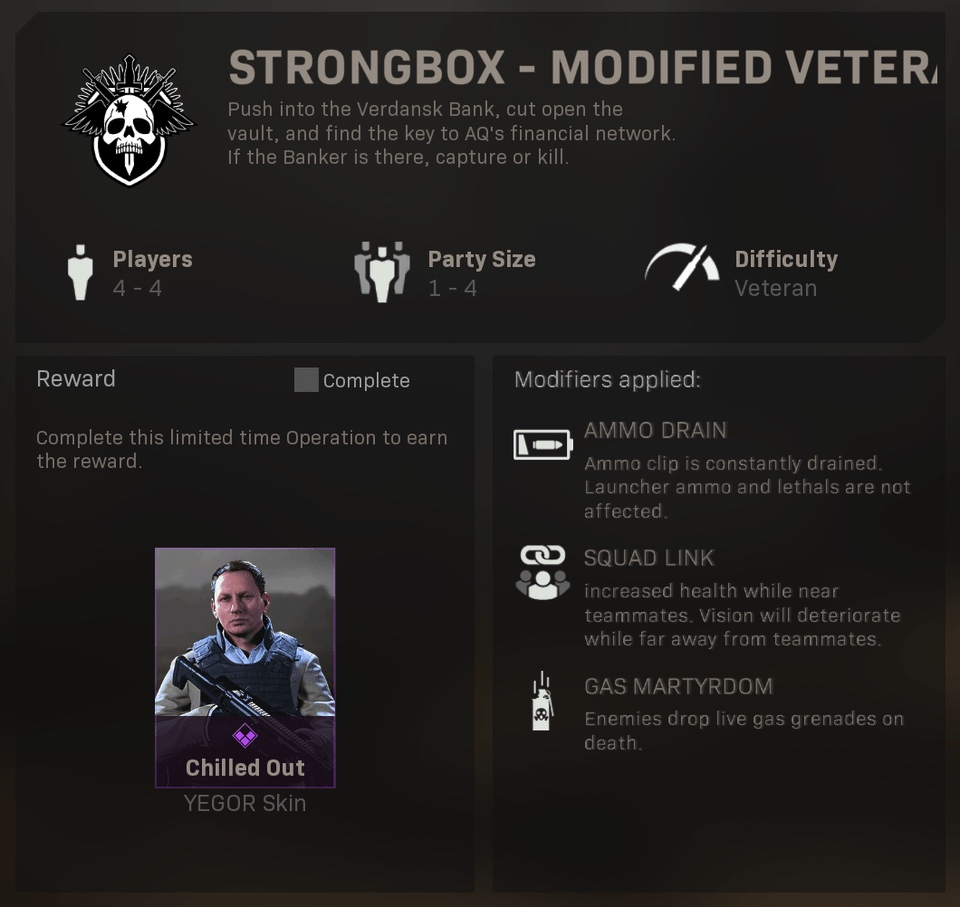 strongbox spec ops modern warfare mission with free yegor skin