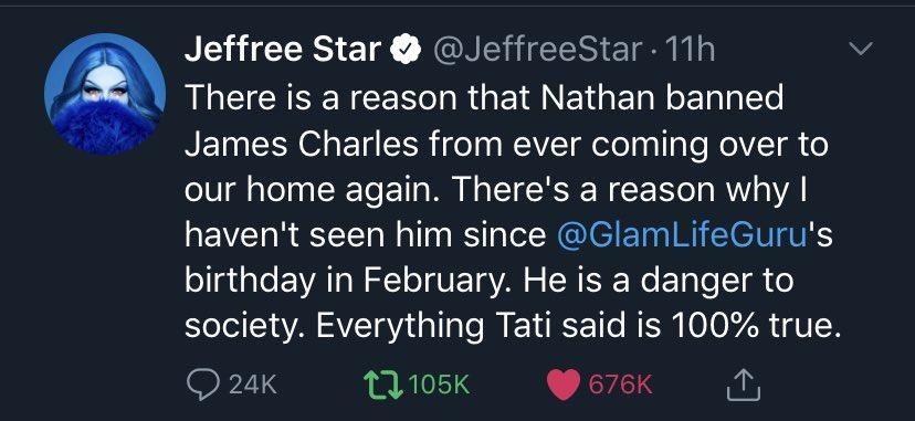 Jeffree Star deleted Tweet