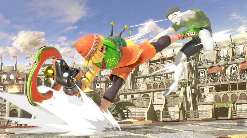 Min Min kicks Wii Fit Trainer