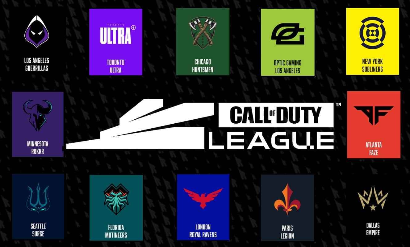 CDL teams around the CDL logo
