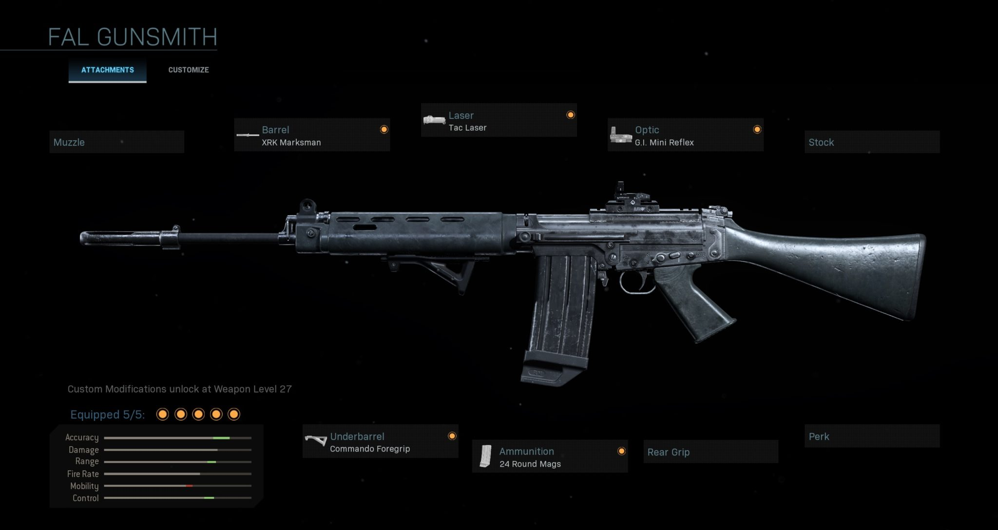 FAL multiplayer loadout