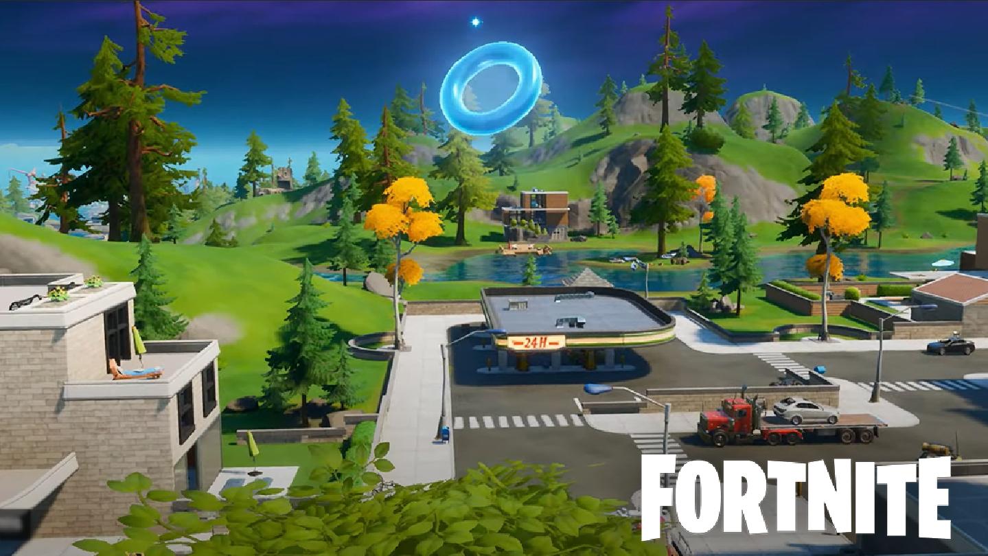 blue ring in Fortnite's Lazy Lake