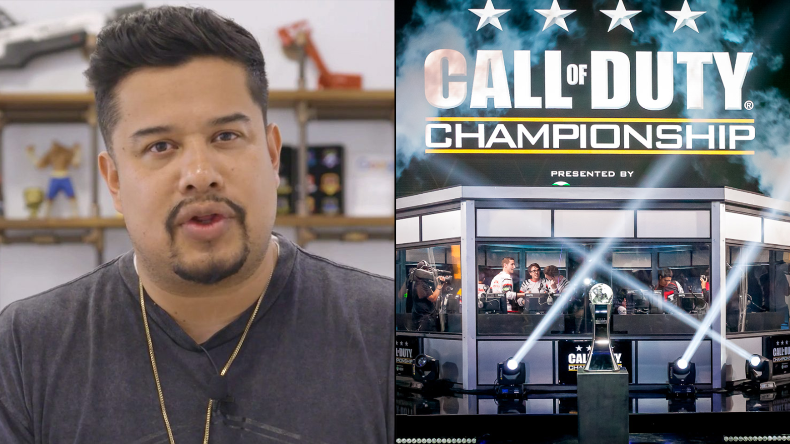 H3CZ talking to the camera / Call of Duty Championship event