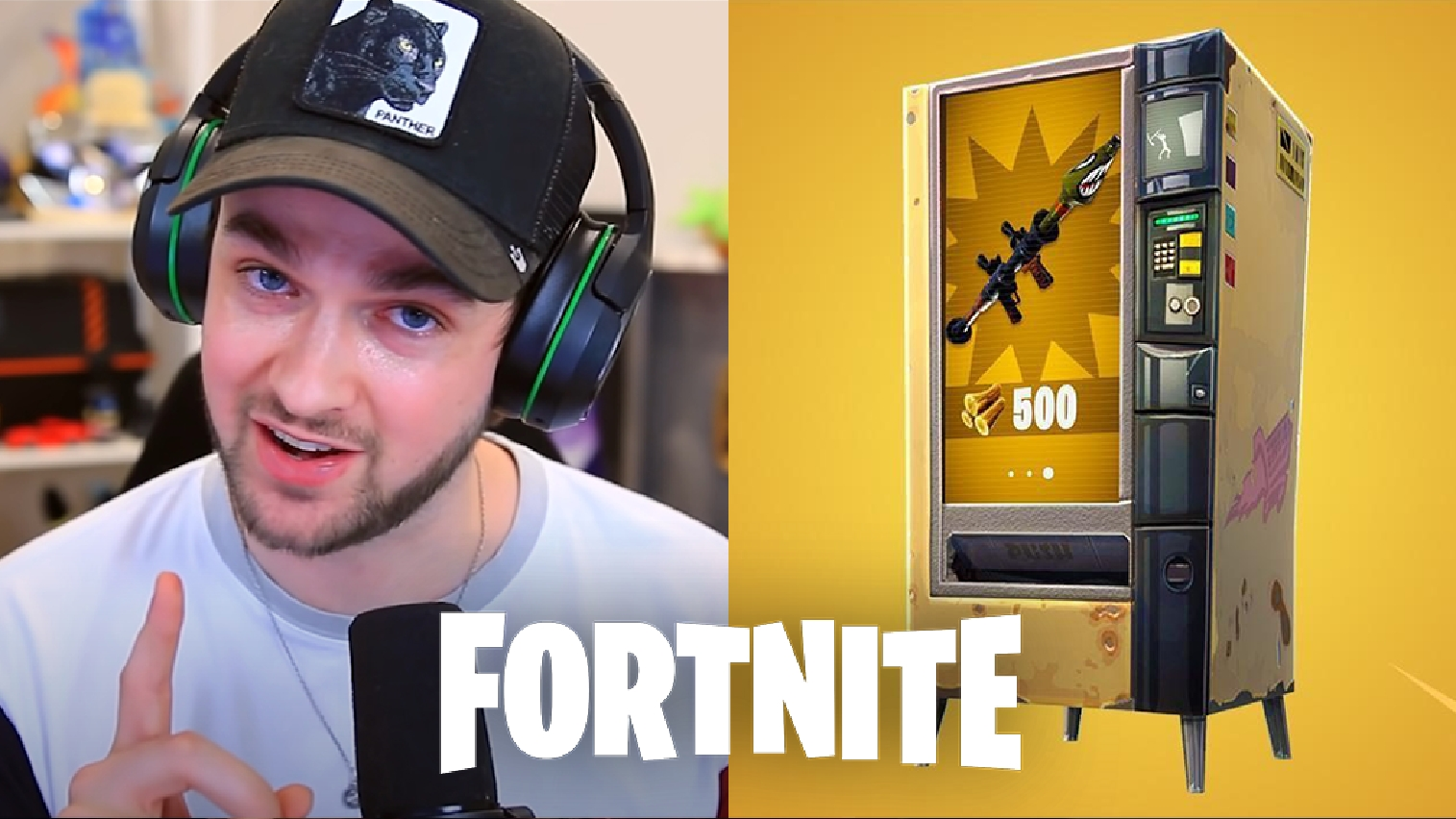 Ali-A and Fortnite vending machine