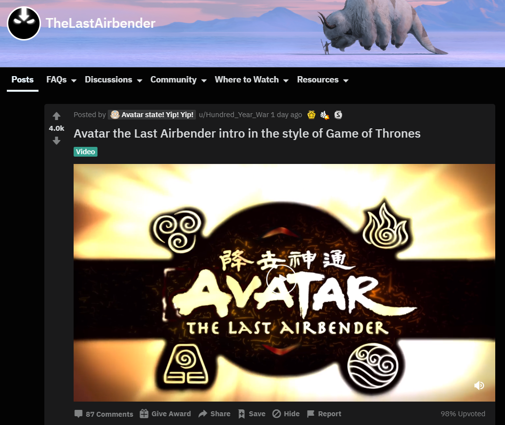 avatar reddit