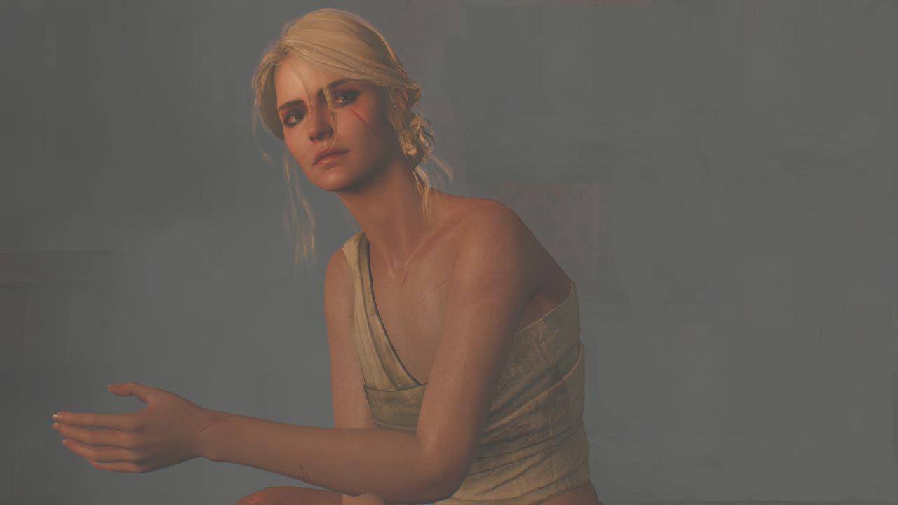 Ciri in the Sauna in the Witcher 3
