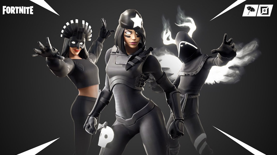 The Shadows Rising bundle skins from Fortnite.