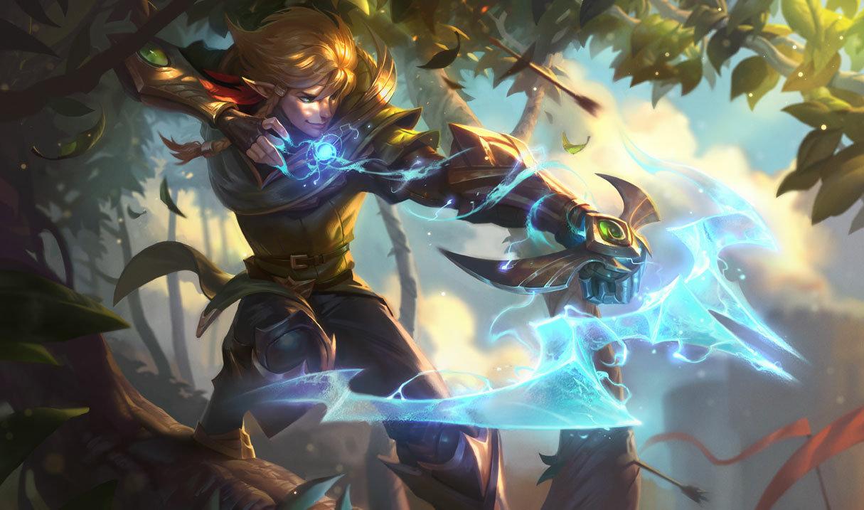 Sherwood Ezreal splash art in League of Legends.