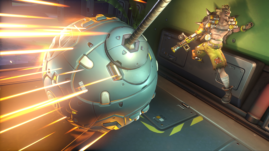 Wrecking Ball grapples in Overwatch