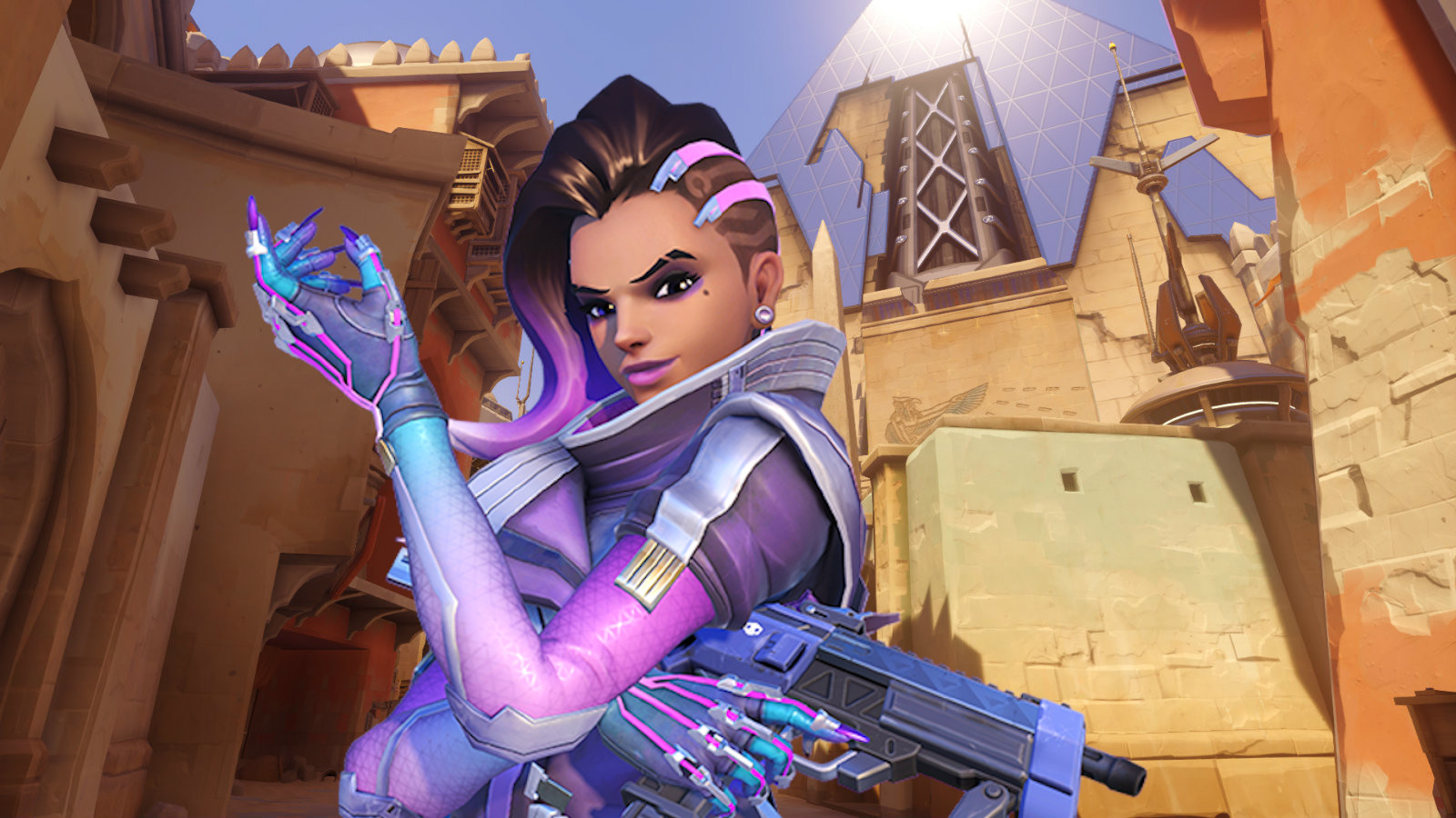 Sombra on Temple of Anubis in Overwatch