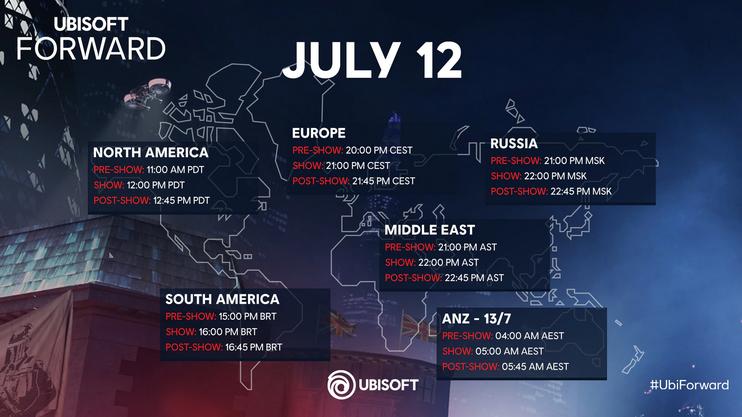 Ubisoft Forward schedule