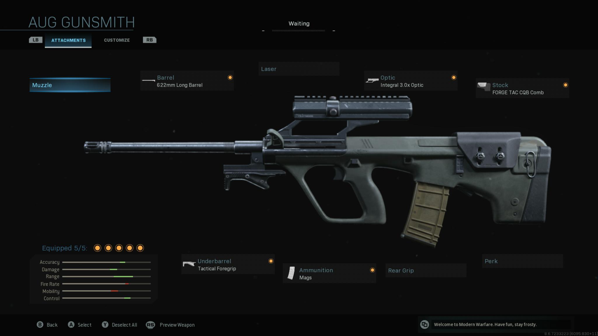 Modern Warfare Gunsmith AUG