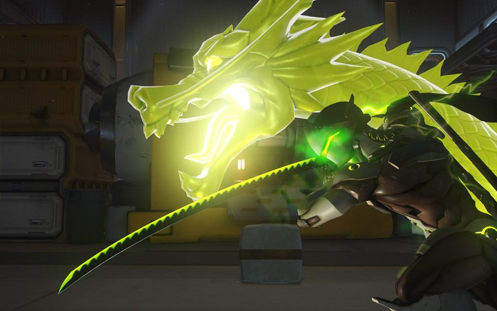 Overwatch's Genji uses Dragon Blade