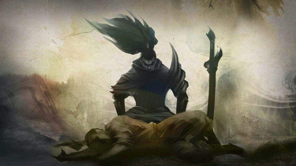 Yasuo mourns over his brother Yone.