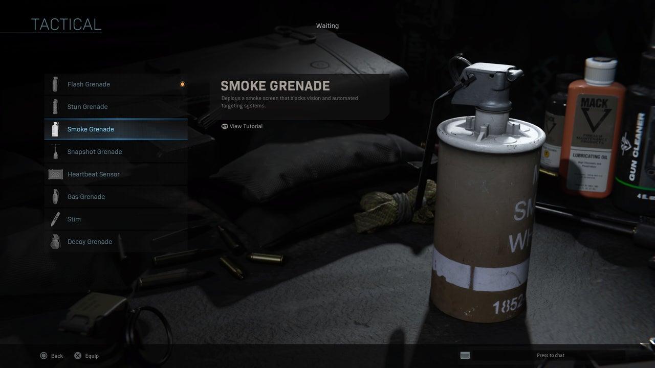 Modern Warfare smoke grenades