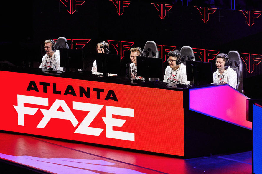 Call of Duty League Atlanta Faze competing on stage