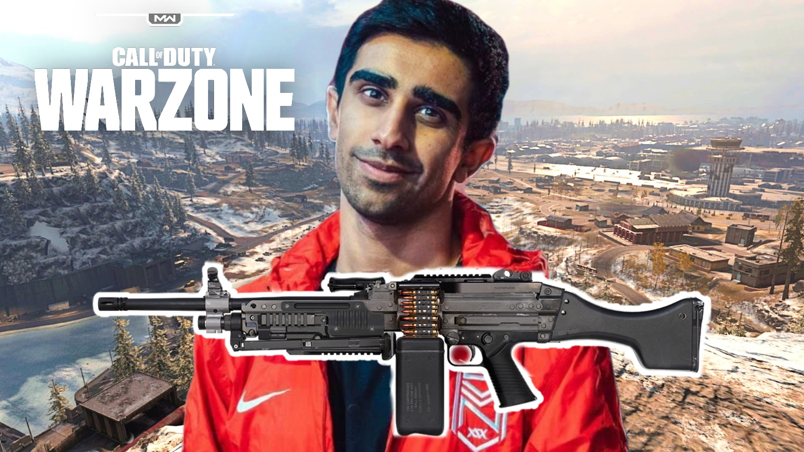 Vikkstar on Warzone map with Bruen Mk9