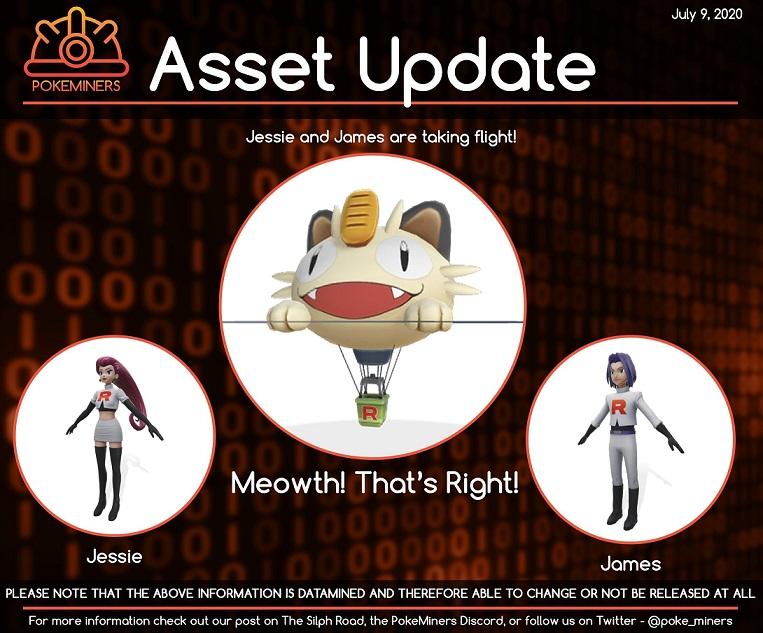Jessie James Meowth Assets Pokemon Go
