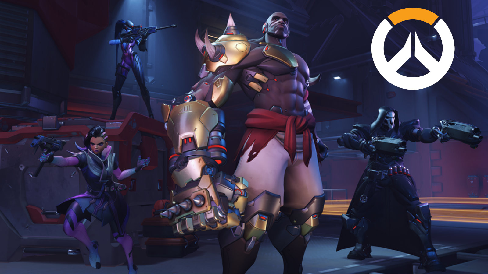 Overwatch Talon members Sombra, Doomfist, Reaper and Widowmaker