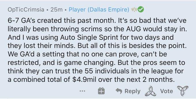 Screenshot of Crimsix' comments