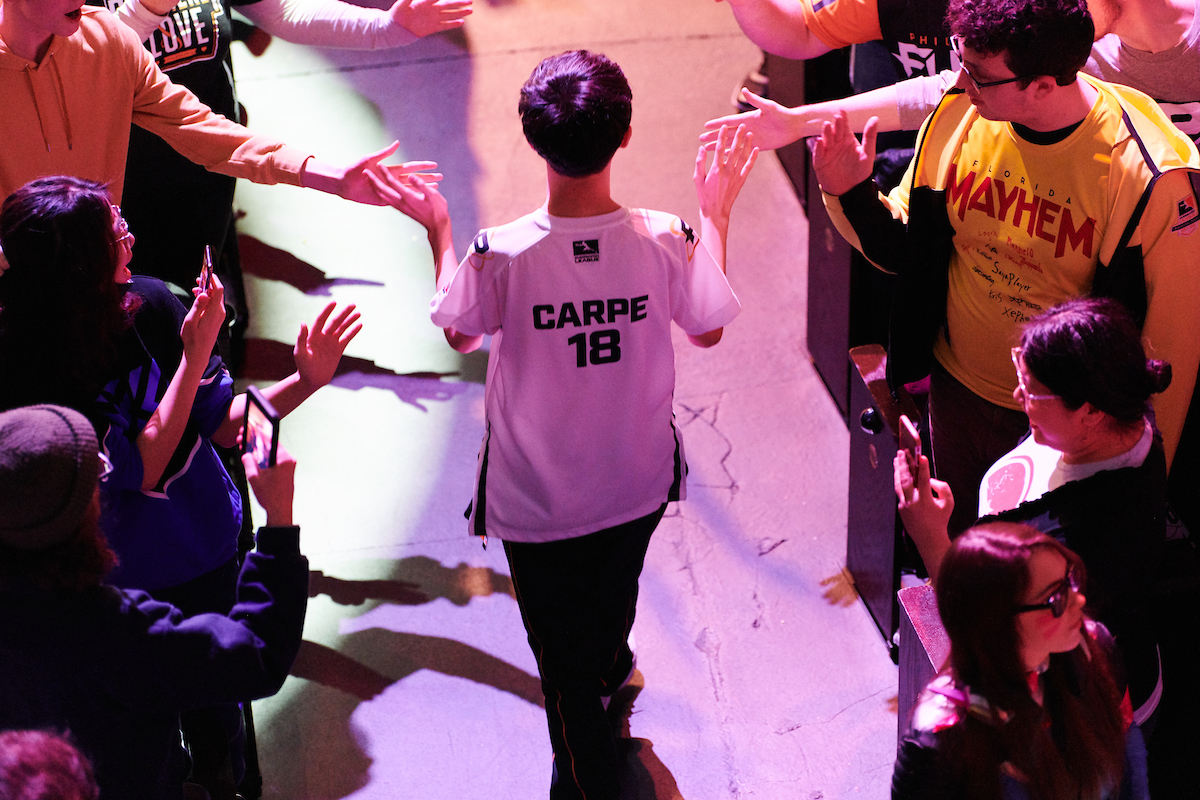 Carpe walks out at a Fusion Overwatch League event