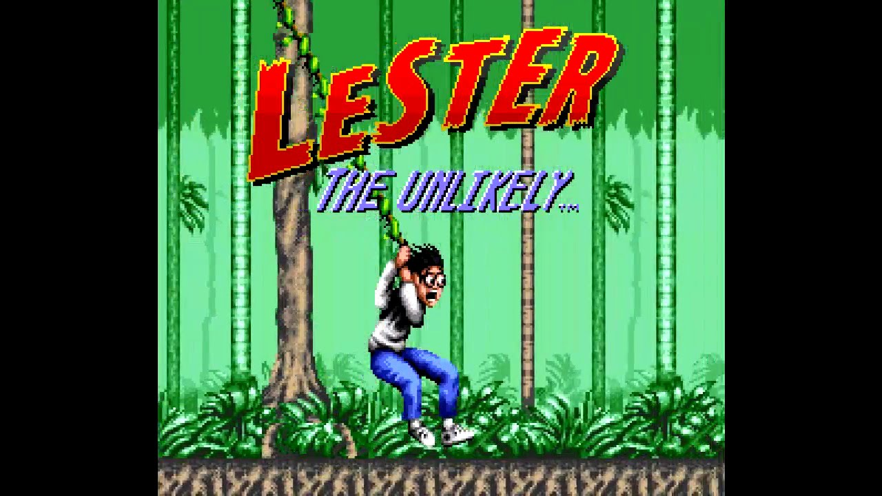 Title screen for Lester the Unlikely