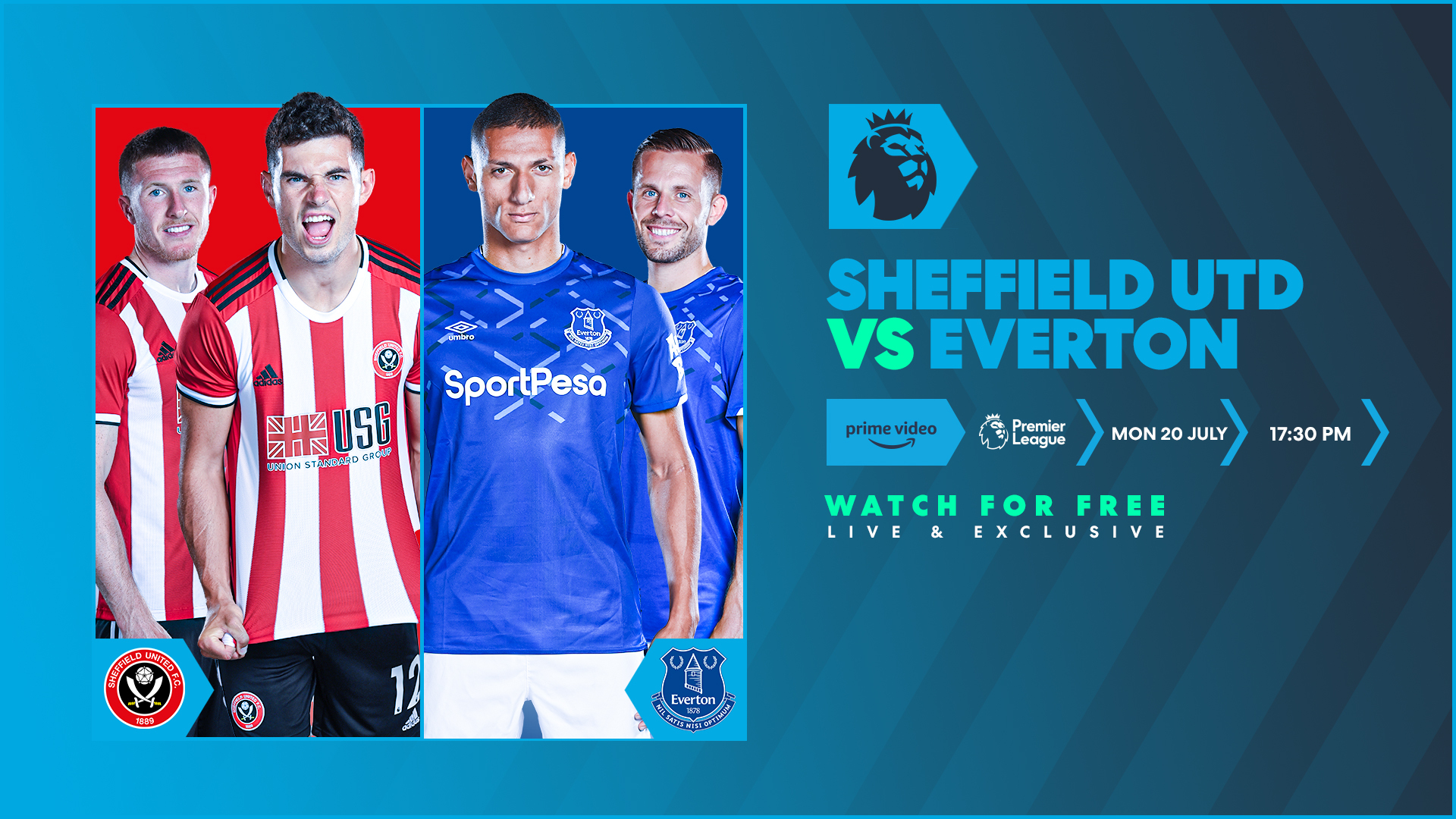 Sheffield United v Everton on Twitch and Amazon Prime Video