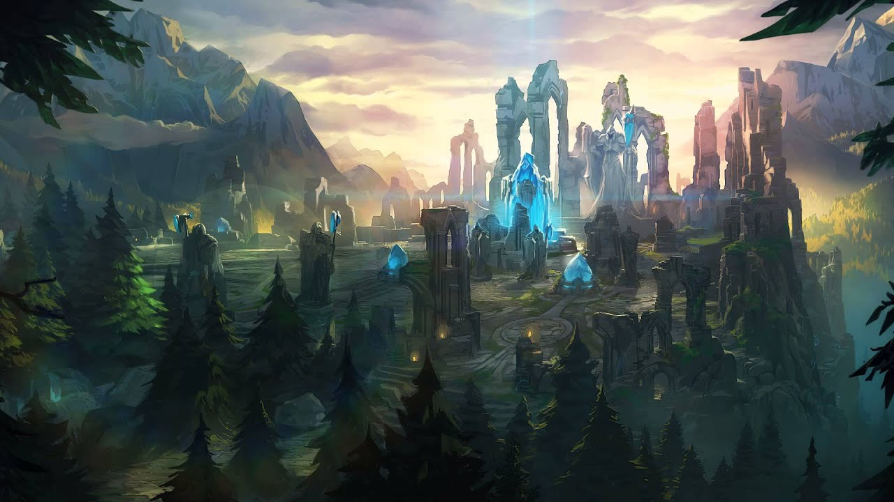 Summoners rift map in league of legends