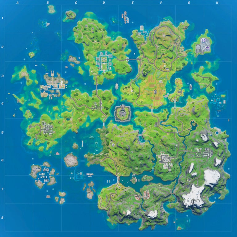 The Fortnite map following the July 11 changes