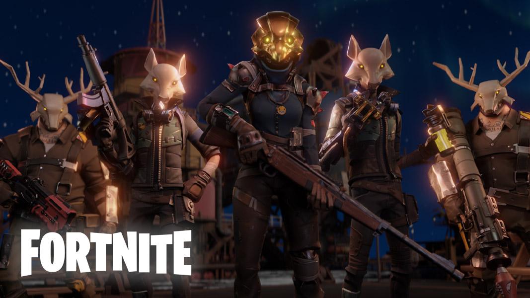 Marauders in Fortnite against a night background.