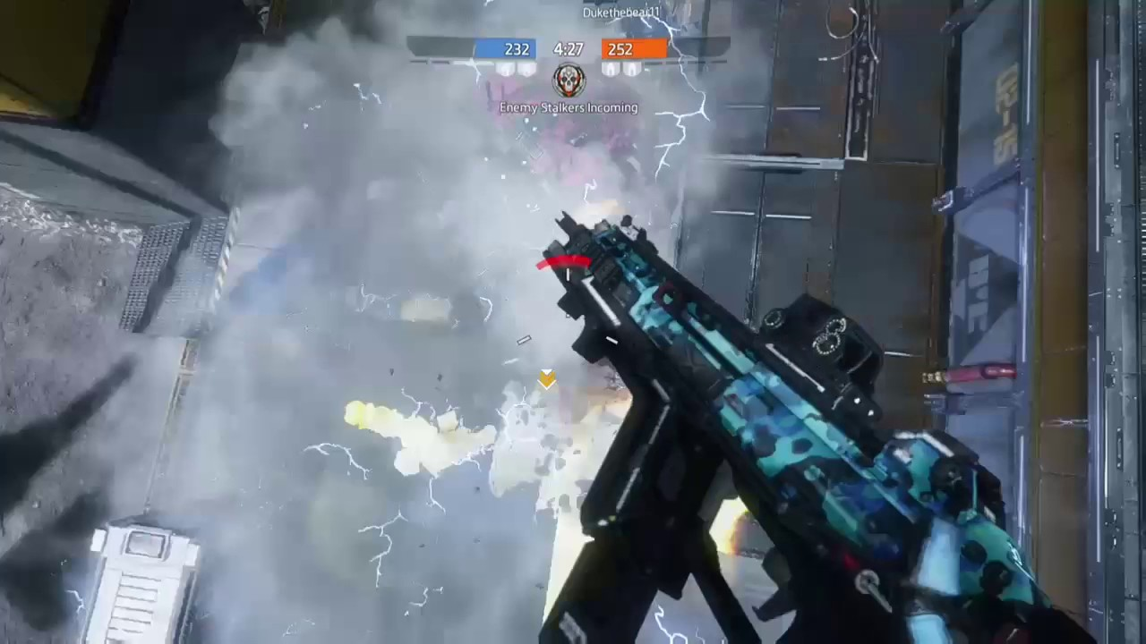 Electric smoke from Titans in Titanfall 2 can be used in Apex Legends Arc stars and Bangalore.