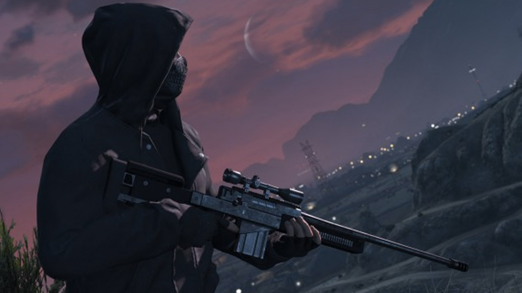 GTA V character with a sniper