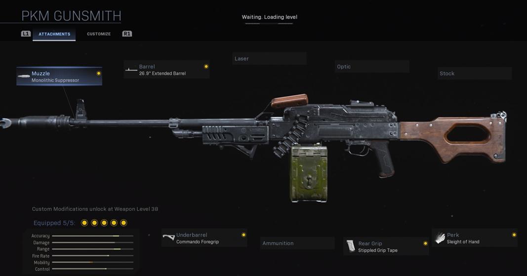 PKM Warzone Loadout in Modern Warfare Gunsmith