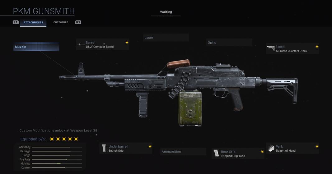 PKM MW loadout in Modern Warfare Gunsmith