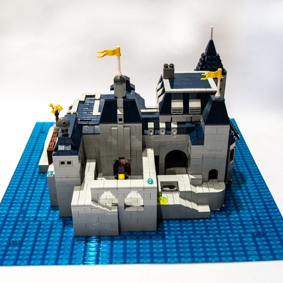 Chateau Guillard made out of LEGO