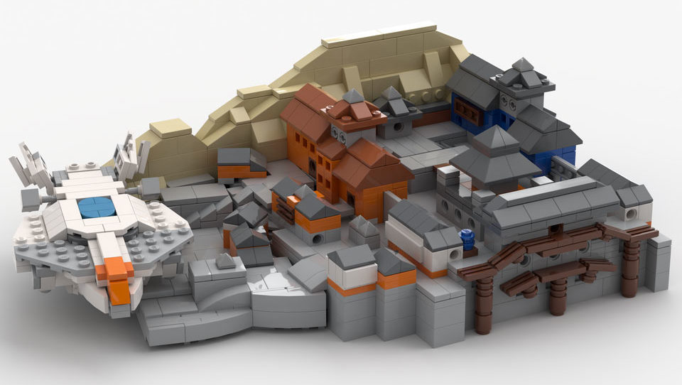 Nepal Village made out of LEGO