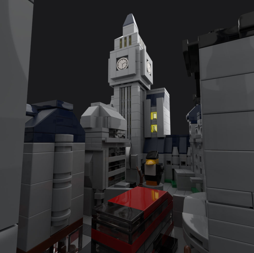 Kings Row made out of LEGO