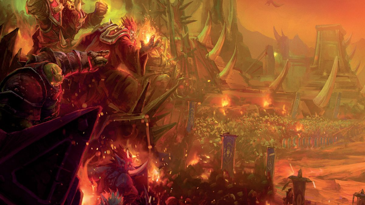 World of Warcraft orcs march to war.