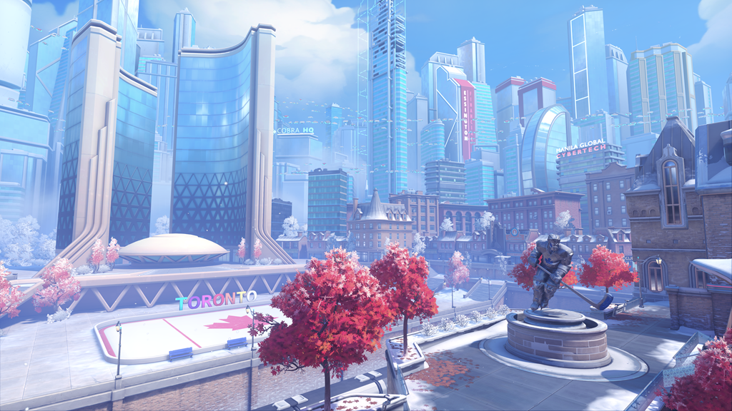 Toronto in Overwatch 2 with hockey rink