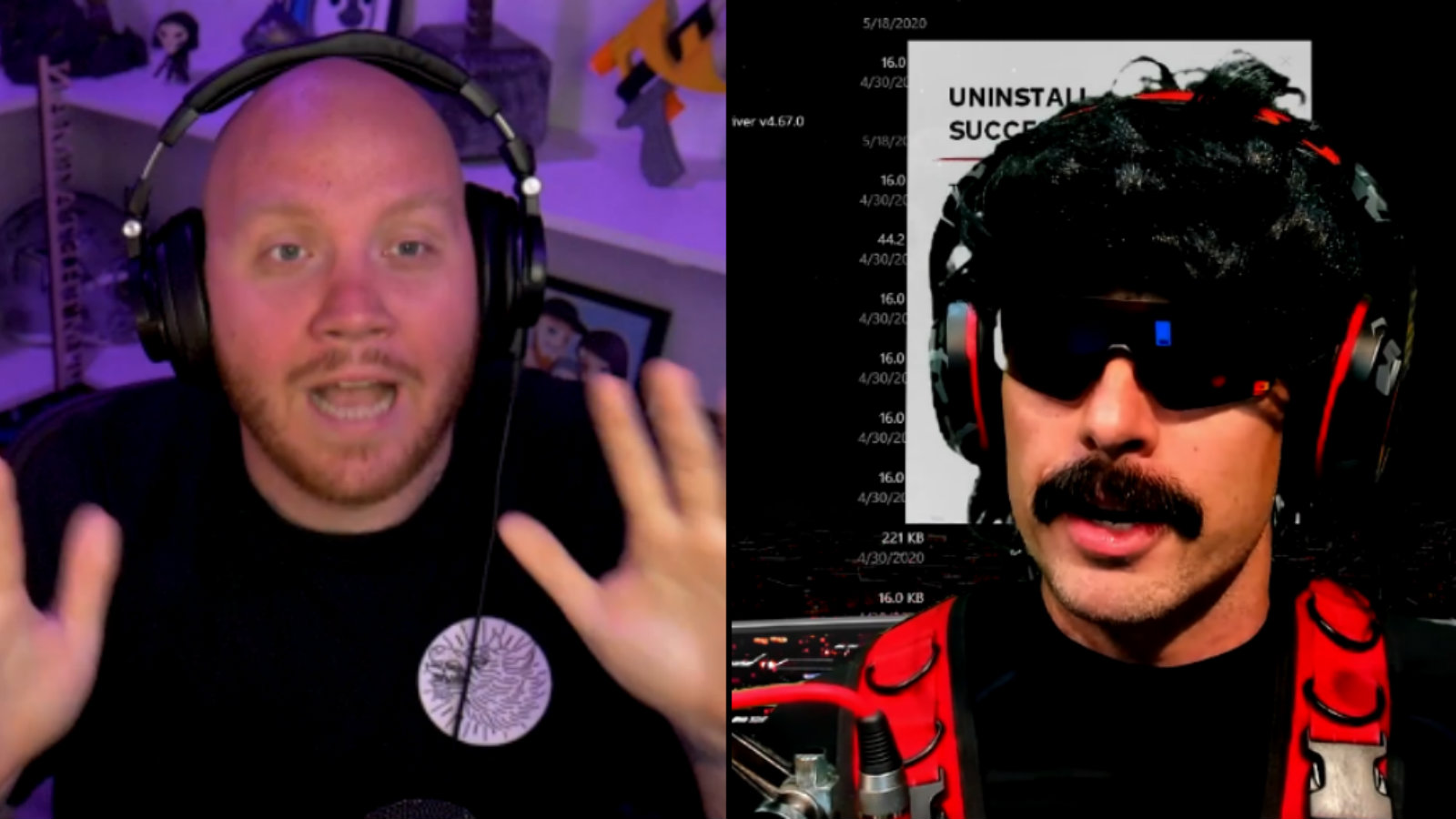TimTheTatman and Dr Disrespect after Twitch ban